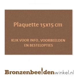 Bronzen plaquette 15x15 cm