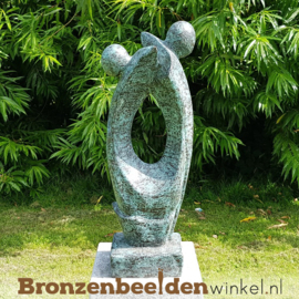 """Bronzen tuinbeeld """"Aan elkaars Zijde"""" BBW52228br"""