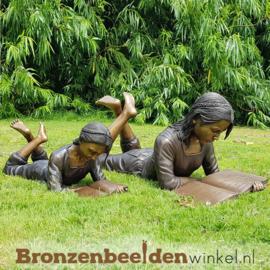 """Bronzen """"Lezende Zusjes"""" beelden BBW1224-840"""
