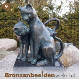 NR 9 | Cadeau vrouw 80 jaar ''Bronzen katten'' BBW2350br