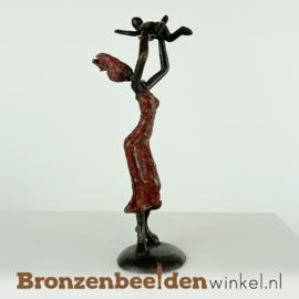 """Afrikaans beeld """"Raziya met Kofi"""" 16 cm BBW009br68"""