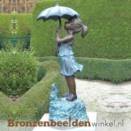 "Spuitfiguur ""Meisje met paraplu"" BBW0301br"