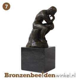 "NR 7 | Cadeau man 40 jaar ""De Denker op sokkel"" BBW001br54"