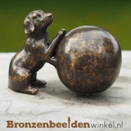Bronzen asbeeldje met hond BBW0569BR