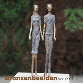 """Bronzen tuinbeeld """"Mooi Koppel"""" BBW0931"""