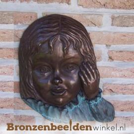 Kinderbeeld meisjesgezicht brons BBW0851br