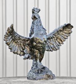 Tuinbeeld haan in brons BBW9333br