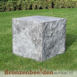Hardsteen sokkel gekapt 40x40x40 cm