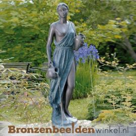 Bronzen fontein Vrouw met twee Kruiken BBW88160