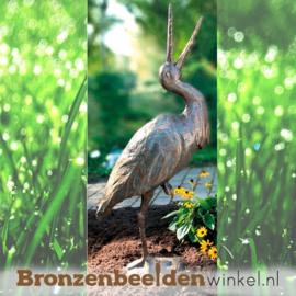 Bronzen ooievaar beeld BBW87600