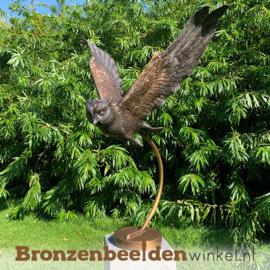 Bronzen beeld vliegende uil BBW2209br