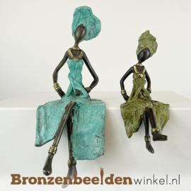 "Afrikaans beeld ""Groot en klein"" 16 + 24cm BBW009br31"