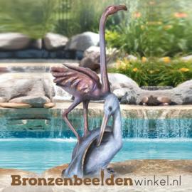 Bronzen pelikaan en flamingo BBW75530