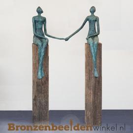 Groot sculptuur zittend paar BBW52848br
