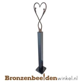 """Groot bruiloft cadeau """"Eeuwige liefde"""" op sokkel BBW007br24"""