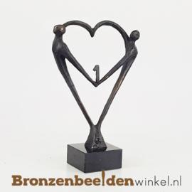 """TOP cadeau 1 jaar getrouwd """"Het Hart"""" met 1 BBW003br67j"""