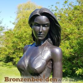 Tuinbeeld vrouw in jurk - donkerbruin BBW1311