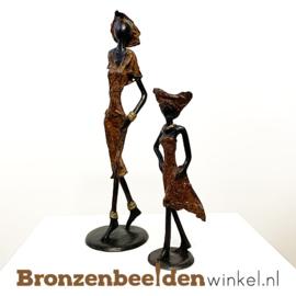 """Afrikaans kunst """"Set 2 st. (1xM-1xS)""""  BBW009br52"""