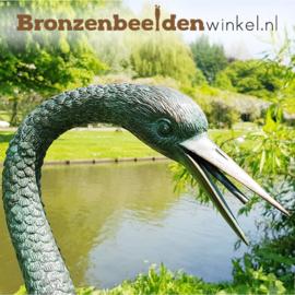 Bronzen beeld kraanvogel BBW1178-r