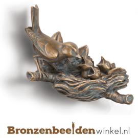 Bronzen vink met nestje BBW84285
