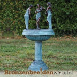 Bronzen fontein met 3 vrouwen BBW22038