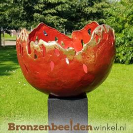 "Tuinbeeld ""Abstracte bloem"" (rode versie) BBW91245br"