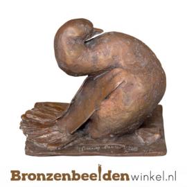 Abstracte bronzen eend BBW87420