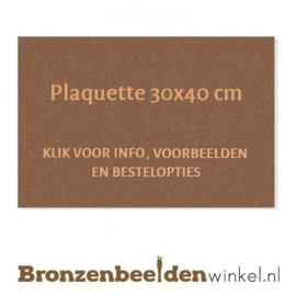 Bronzen plaquette 30x40 cm