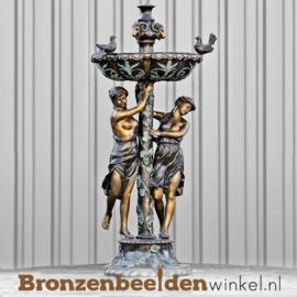Bronzen fontein met twee vrouwen BBW8002