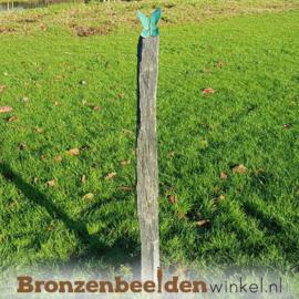 Tuinbeeld vlinder op sokkel BBW20366