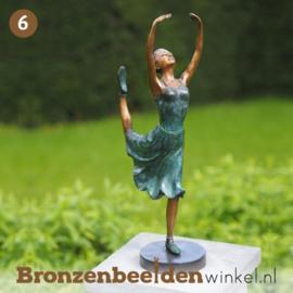 NR 6 | Cadeau vrouw 60 jaar ''Bronzen ballerina'' BBW1265