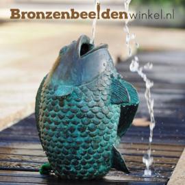 Bronzen beeld vis als fontein BBW1141br