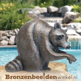 Bronzen wasbeer beeld BBW37261