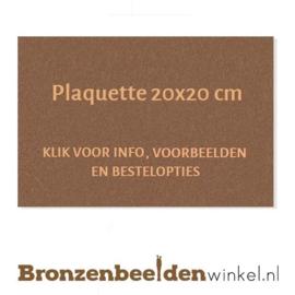 Bronzen plaquette 20x20 cm