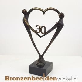 """TOP cadeau 30 jaar getrouwd """"Het Hart"""" met 30 BBW003br67"""