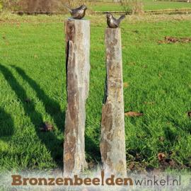 Tuinbeeld vogels op sokkels BBW80007