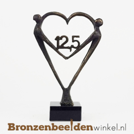 """TOP cadeau 12,5 jaar getrouwd """"Het Hart"""" met 12,5 BBW003br67j"""