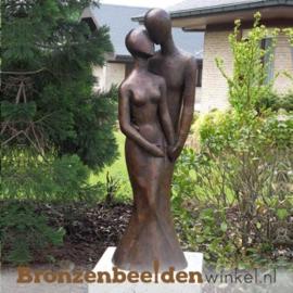 Groot beeld Liefdespaar van brons BBW1036