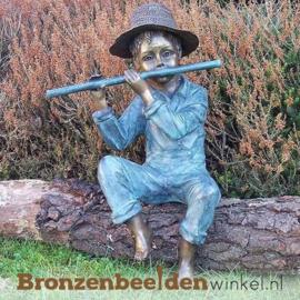 Bronzen jongen met fluit BBW0856br