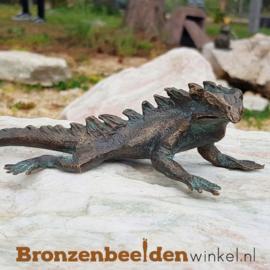 Bronzen leguaan beeldje BBWR90326