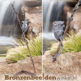 Bronzen muisje op tak BBW37202