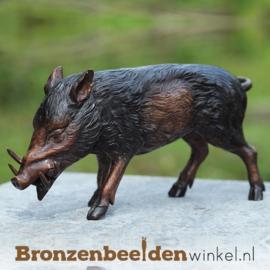 Bronzen beeldje zwijn BBW94490