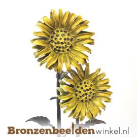Bronzen zonnebloemen tuinbeeld BBWR88895