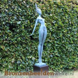 """Tuinbeeld vrouw """"Elegantie"""" van brons BBW231674br"""