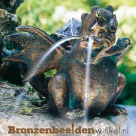 Spuitfiguur beeld draak van brons BBWR90144
