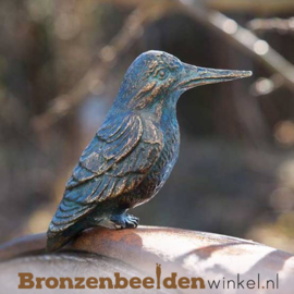 Mini ijsvogel beeldje brons BBW88236