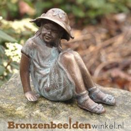 Bronzen meisje met hoed BBW1970br
