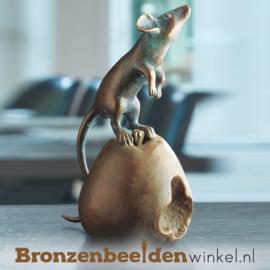 Bronzen muis beeldje BBW37073