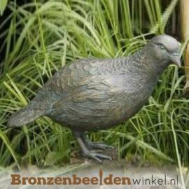 Beeld patrijs vogel in brons BBWR88461