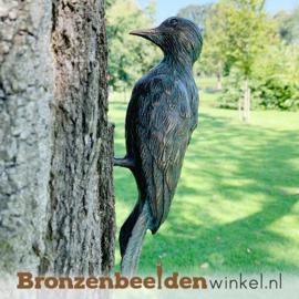 NR 10   Bronzen bonte specht beeld BBWR88472